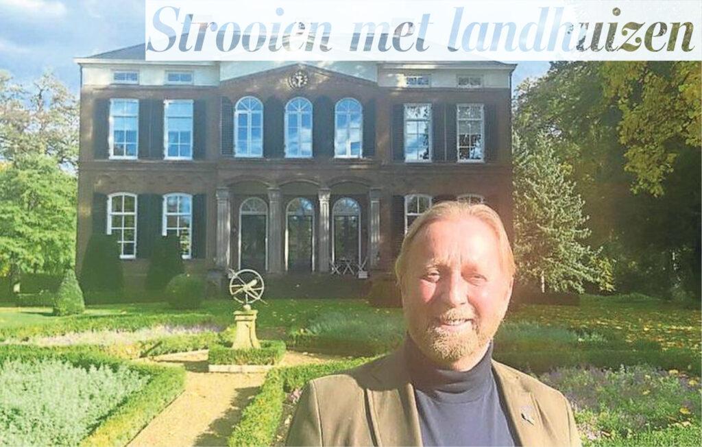 Artikel Telegraaf Strooien met landhuizen